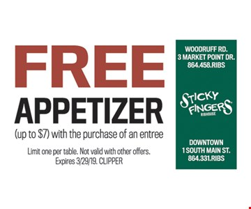 Free appetizer (up to $7) with the purchase of an entree. Limit one per table. Not valid with other offers. Expires 3-29-19. CLIPPER