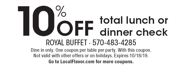 photo about Royal Buffet Printable Coupons identify - Royal Buffet Coupon codes