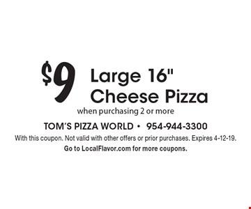$9 Large 16