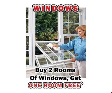 Windows. Buy 2 rooms of windows, get one room FREE