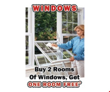 Buy 2 Rooms of Windows, Get One Room Free. Expires 10/18/19.