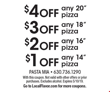 $1 OFF any 14