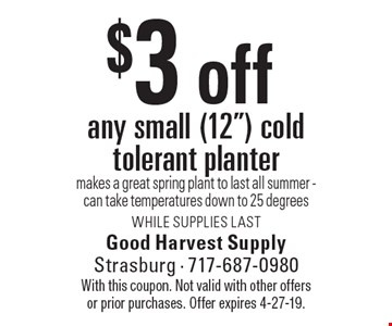 $3 off any small (12