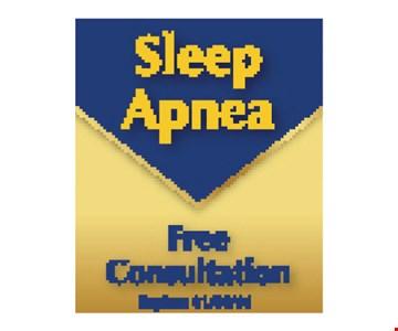 Sleep Apnea Free Consultation. Expires 5/10/19.