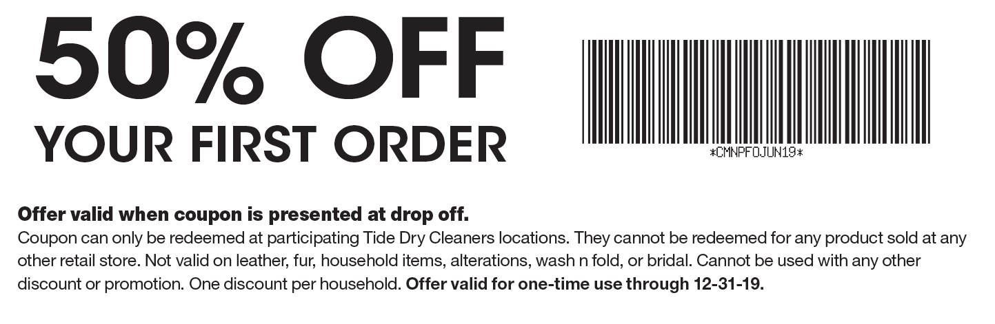 image regarding Printable Dry Cleaning Coupons named - Tide Dry Cleaners Discount coupons