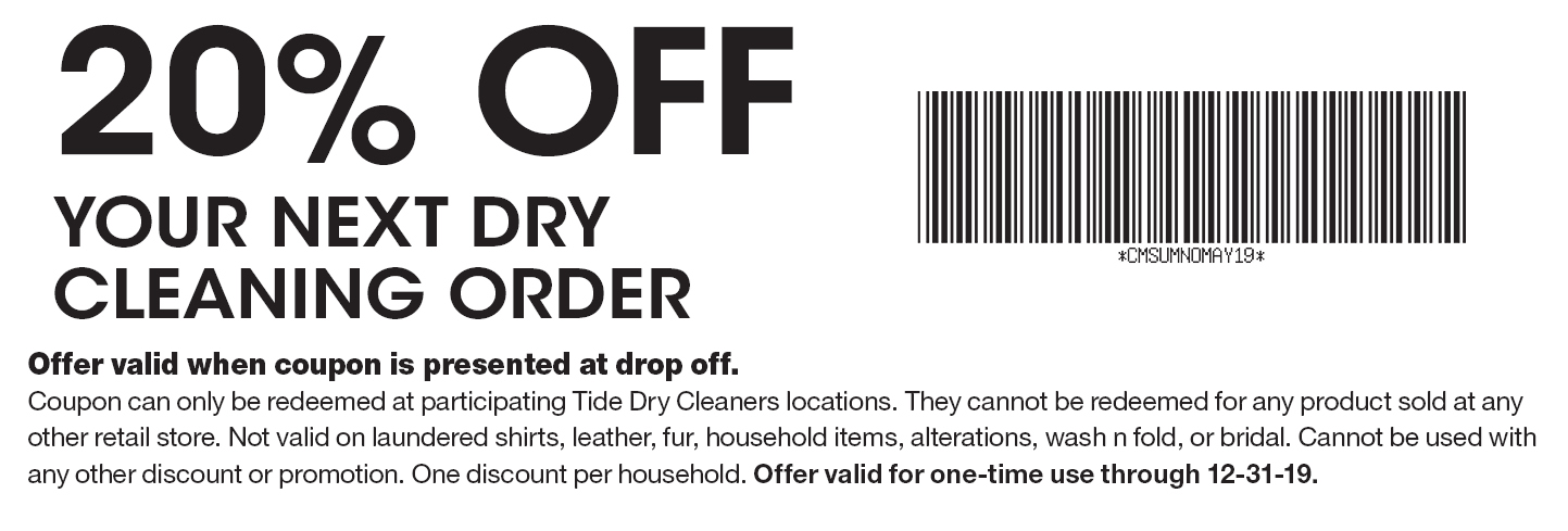 photograph regarding Printable Dry Cleaning Coupons referred to as - Tide Dry Cleaners Coupon codes