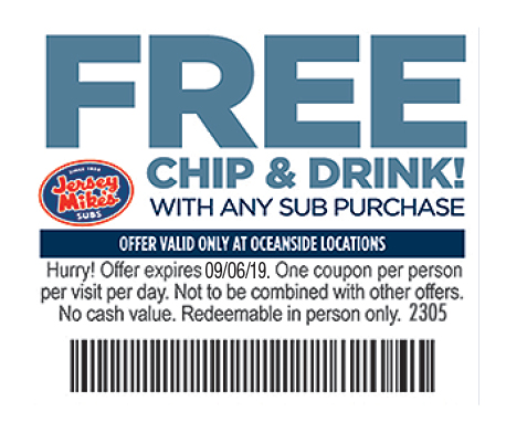 picture relating to Jersey Mike's Printable Coupons known as Jersey Mikes Coupon PK Smooth