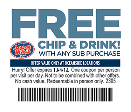 picture relating to Jersey Mike's Printable Coupon identified as - Jersey Mikes Subs Discount codes