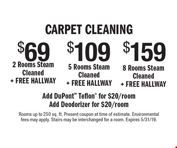 Teasdale Fenton Carpet Cleaning 159 8 Rooms Steam Cleaned Free Hallway 109 5