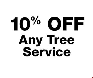 10% off any tree service.
