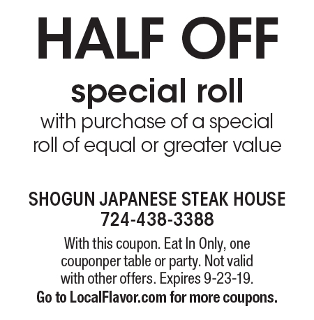 image relating to Printable Coupons Shogun called - Shogun Eastern Steakhouse Discount coupons