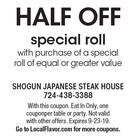 image relating to Printable Coupons Shogun called - Shogun Eastern Steakhouse Discount coupons
