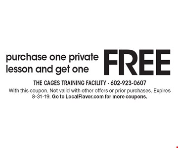 FREE purchase one private lesson and get one. With this coupon. Not valid with other offers or prior purchases. Expires 8-31-19. Go to LocalFlavor.com for more coupons.