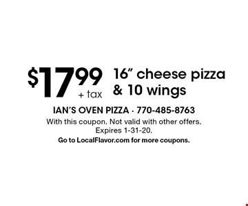 $17.99 + tax 16