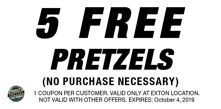 photo about Philly Pretzel Factory Coupons Printable known as - PHILLY PRETZEL Manufacturing unit Coupon codes