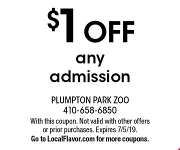 $1 OFF any admission. With this coupon. Not valid with other offers or prior purchases. Expires 7/5/19. Go to LocalFlavor.com for more coupons.