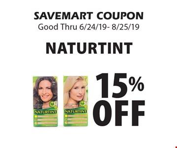 15% Off Naturtint. SAVEMART COUPONGood Thru 6/24/19- 8/25/19