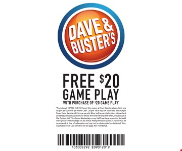 New Orleans Coupons >> Localflavor Com Dave And Buster S New Orleans Coupons