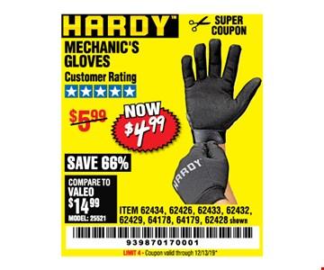 Hardys Mechanics Knife $4.99. LIMIT 4 - Coupon valid through12/31/19