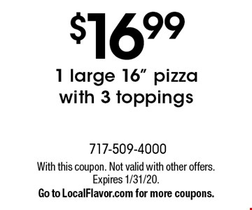 $16.99 1 large 16