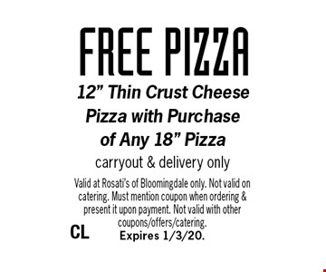 FREE pizza. 12