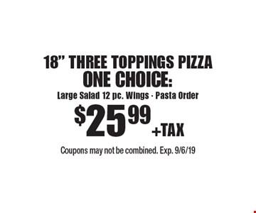 $25.99 +TAX 18