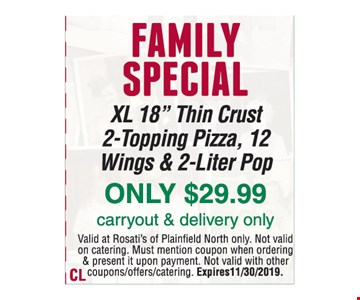 Family Special. XL 18