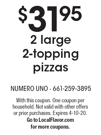 graphic about Uno Coupons Printable named Numero Uno Pizza - $15 For $30 Value Of -