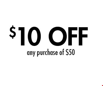$10 OFF any purchase of $50. 1 per table. Cannot be combined with other offers. Valid with original coupon only. Copies not valid. Not valid on holidays. Expires 11/8/19. Go to LocalFlavor.com for more coupons.