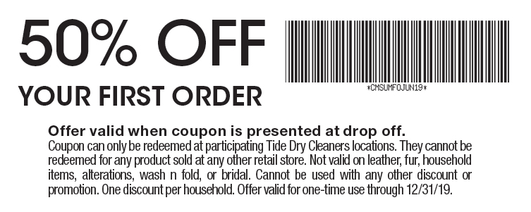 photo regarding Printable Dry Cleaning Coupons titled - Tide Dry Cleaners Coupon codes