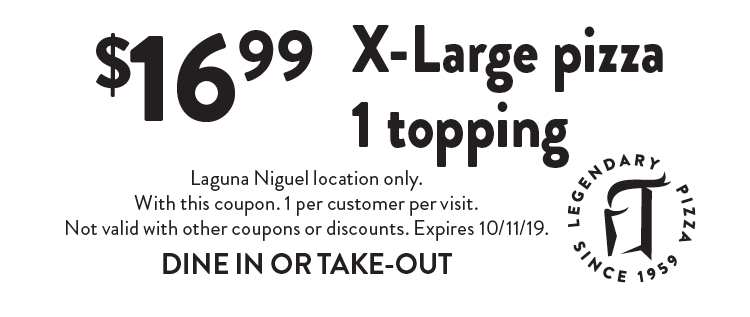 graphic regarding Round Table Pizza Printable Coupons referred to as - Spherical Desk Pizza - Laguna Niguel Coupon codes