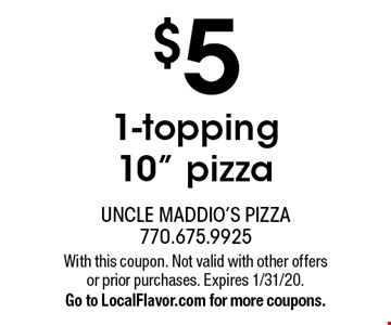 $5 1-topping 10