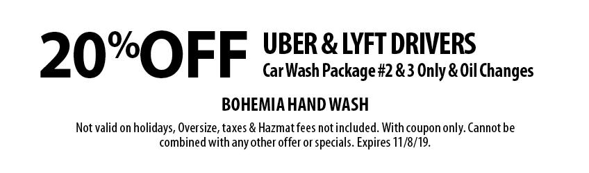 25% Off Car Wash Package #2 or #3 at Bohemia Hand Wash