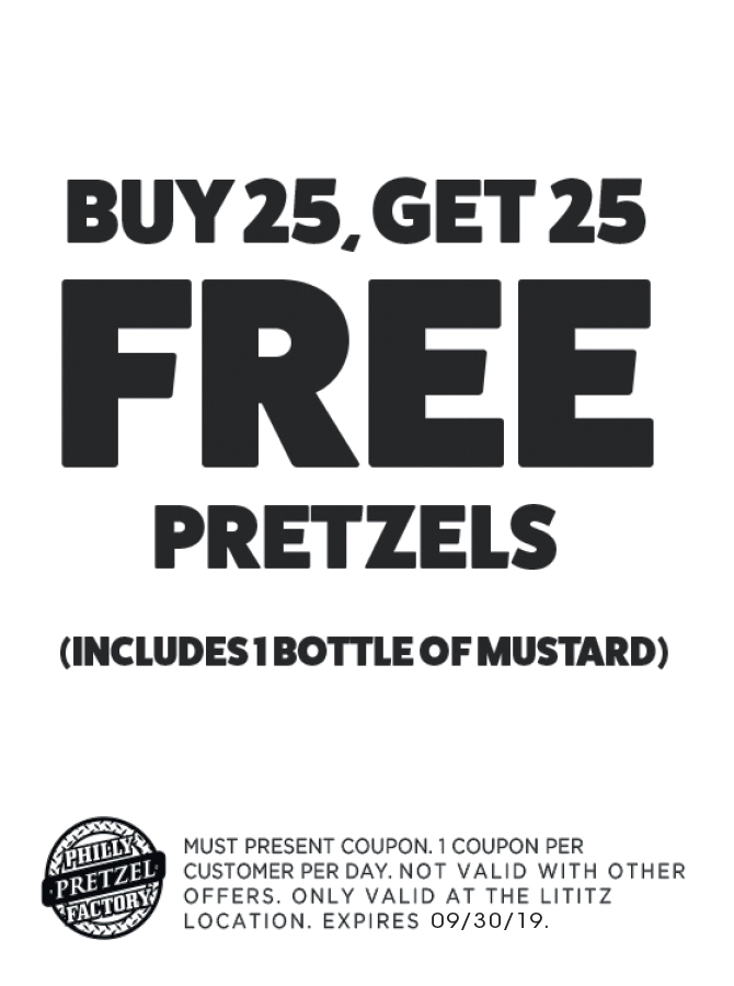 graphic about Philly Pretzel Factory Coupons Printable named - Philly Pretzel Manufacturing facility Discount coupons