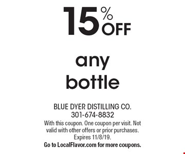 15% OFF any bottle. With this coupon. One coupon per visit. Not valid with other offers or prior purchases. Expires 11/8/19. Go to LocalFlavor.com for more coupons.