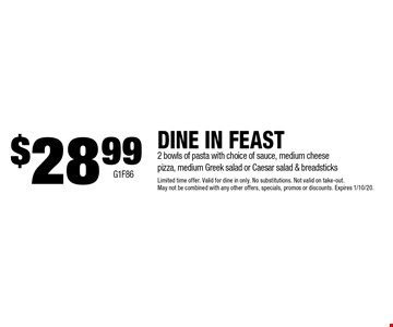 $14.99 Large Gourmet Pizza. Take-out only. With coupon. Not valid with any other offer or discount. Expires 1/10/20. Go to LocalFlavor.com for more coupons. G1F 88