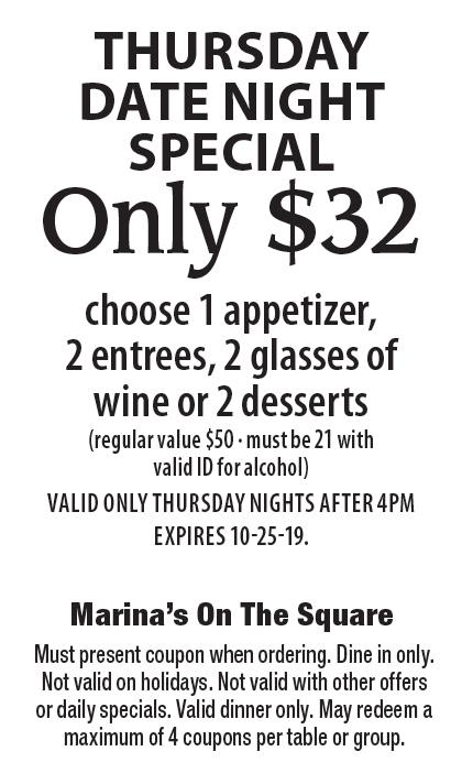marinas murfreesboro coupon