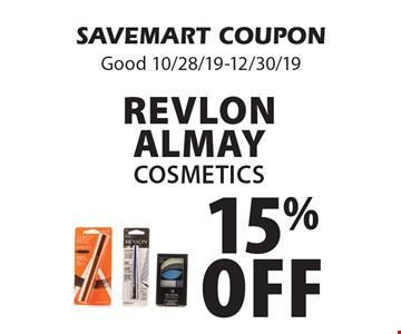 15% off Revlon Almay Cosmetics. SAVEMART COUPON Good 10/28/19-12/30/19
