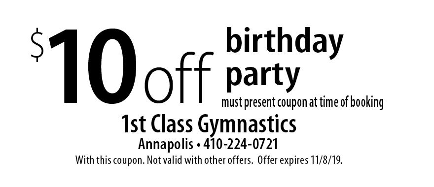 first class gymnastics coupons