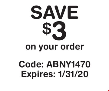 Save $3 on your purchase. Code: ABNY1470. Expires: 1/31/20. *Cannot be combined with any other offer. Restrictions may apply. See store for details. Edible, Edible Arrangements, and the Fruit Basket Logo are registered Trademarks of Edible IP, LLC.  2018 Edible IP, LLC. All Rights Reserved.
