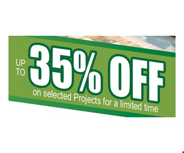 Up to 35% off on selected projects for a limited time. 12/6/19