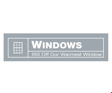 Windows $50 off our warmest window. Offers expire 12/31/19. Cannot be combined with other offers or prior purchases. $50.00 window discount is applied to the full-price of any window purchased with a triple-pane glass package. 50% discount on the installation of roofing or doors applies only to labor cost of a typical installation; additional labor costs may apply. 0% interest financing is offered to qualified buyers with approved credit; interest accrues from date of purchase but waived if paid in full within 18 months. Rite Window is locally owned & operated with headquarters in Woburn MA. MHIC# 138722
