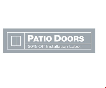 Patio doors 50% off installation labor. Offers expire 12/31/19. Cannot be combined with other offers or prior purchases. $50.00 window discount is applied to the full-price of any window purchased with a triple-pane glass package. 50% discount on the installation of roofing or doors applies only to labor cost of a typical installation; additional labor costs may apply. 0% interest financing is offered to qualified buyers with approved credit; interest accrues from date of purchase but waived if paid in full within 18 months. Rite Window is locally owned & operated with headquarters in Woburn MA. MHIC# 138722