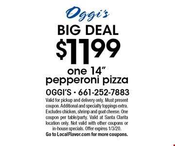 BIG DEAL $11.99 one 14