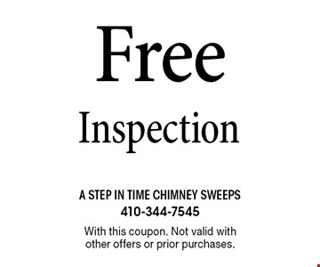 Free Inspection. With this coupon. Not valid with other offers or prior purchases.