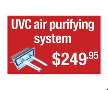 UVC air purifying system $249.95.