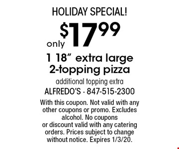 Holiday Special! Only $17.99 1 18