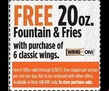 Free 20 oz. Fountain & Fries
