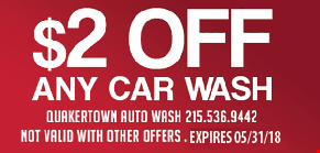 $2 off any car wash. Expires 5/31/18