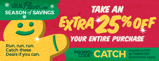 Take an extra 25% OFF with promo code: CATCH  Expires: 12/17/17 11:59PM EST.  Restrictions Apply